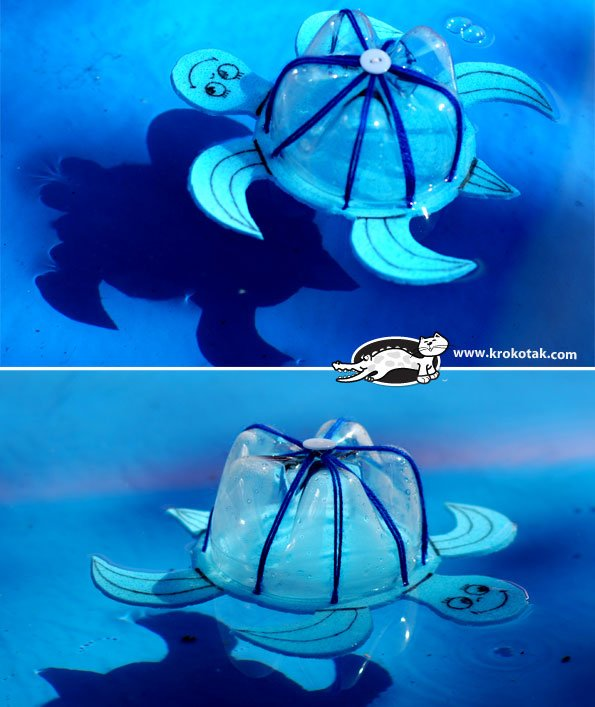 How to Use a Bottle to Make a Floating Turtle