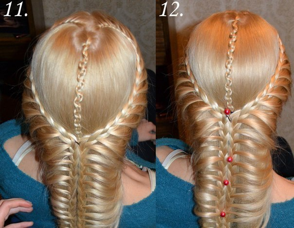 Diy Heart Shaped French Braids Hairstyle