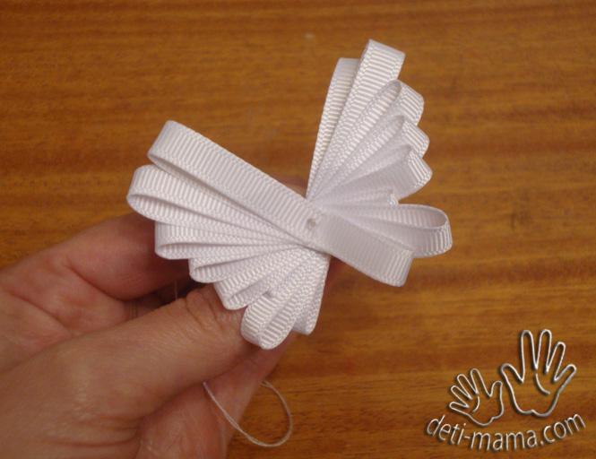 Бабочки из узкой ленты своими руками