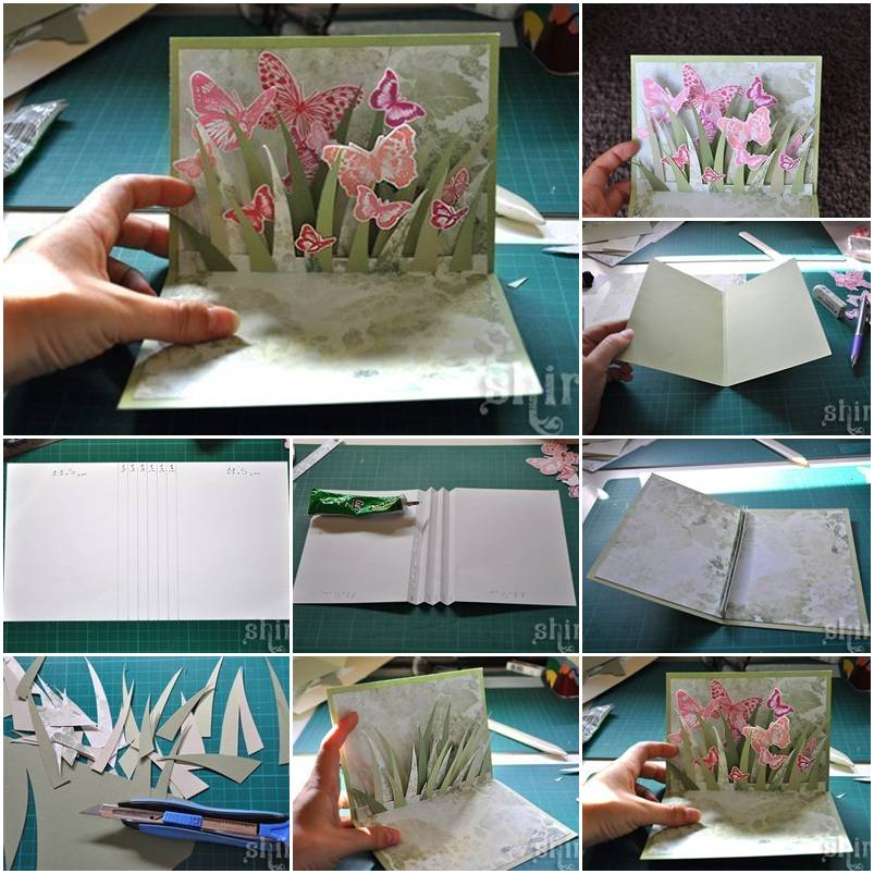 How to hand made 3d greeting card step by step for 3d christmas cards to make at home