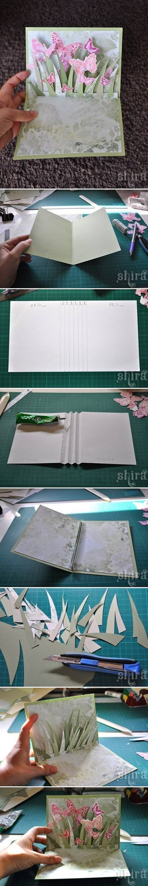 How to hand made 3d greeting card step by step m4hsunfo