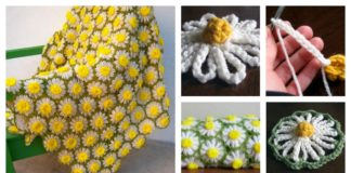 How to DIY Crochet Vintage Daisy Motif Step by Step