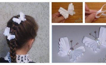 How to Make a Beautiful Ribbon Butterfly Hairpin