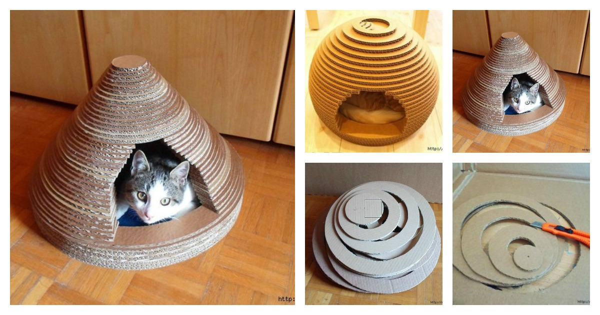 How to Use Cardboard Make Cat's House