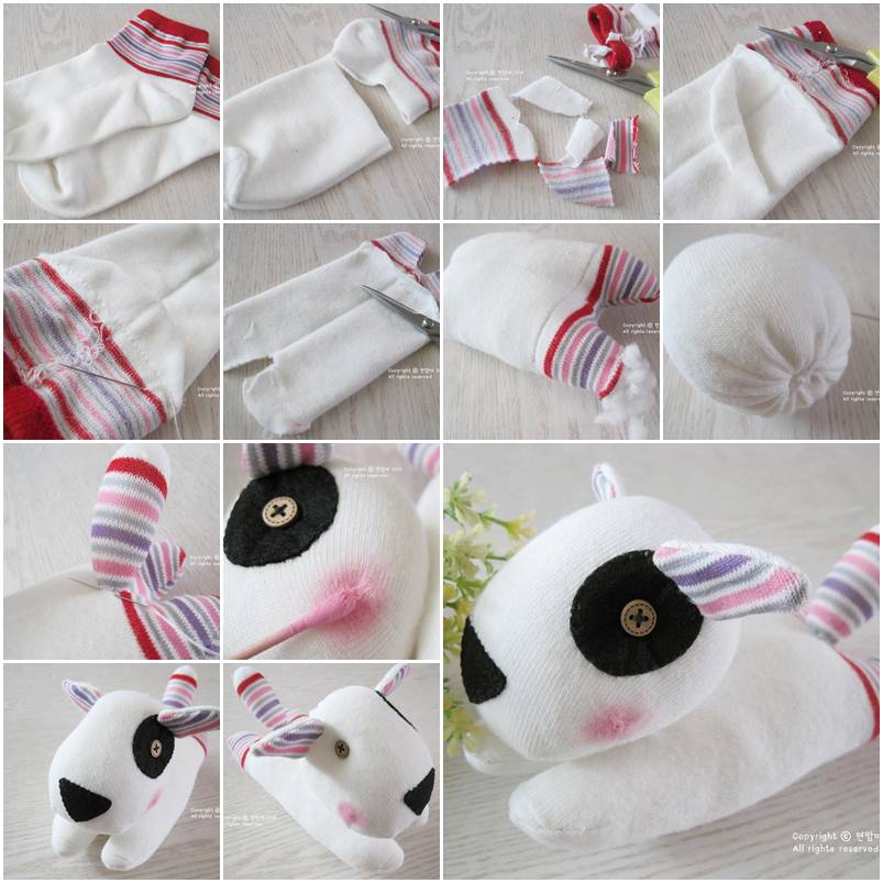 How to make cute sock puppy