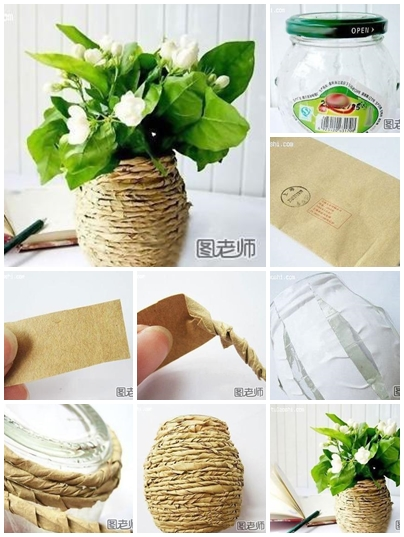 How to use recycled material to make flower vase step by for Handmade things from waste material for kids step by step