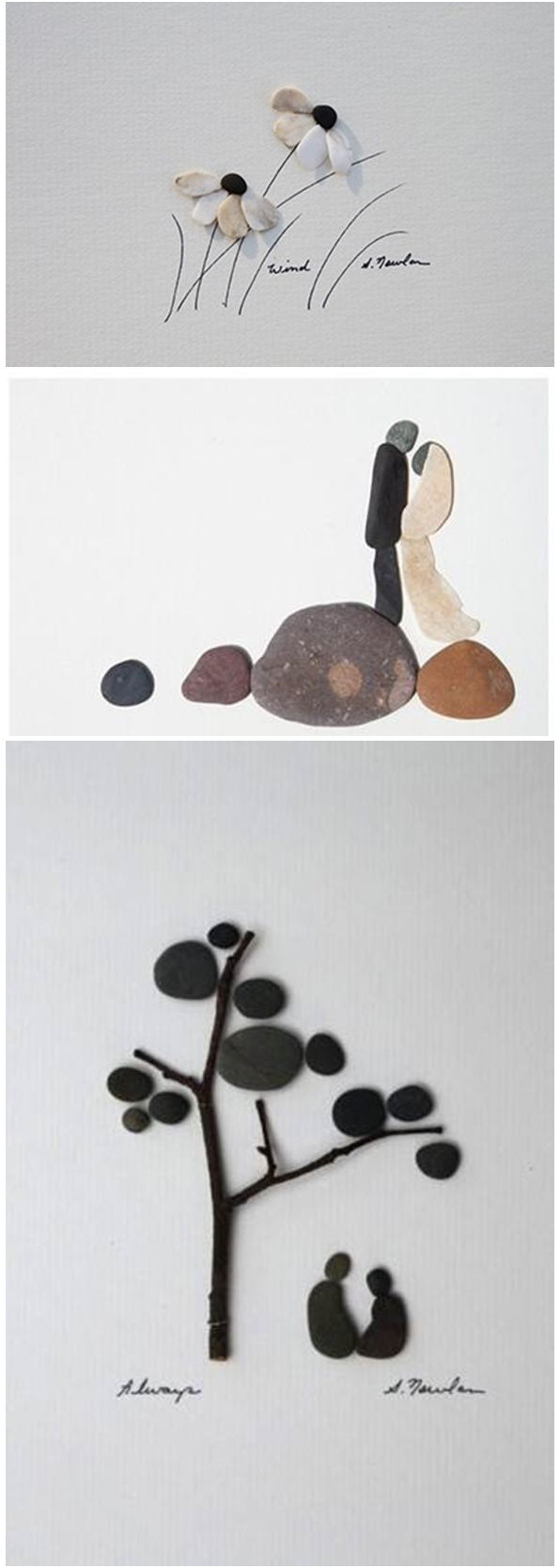 Stone art - Simple and Beautiful