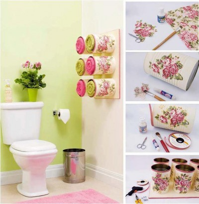 How to make cool towel storage with recycled materials Towel-Storage