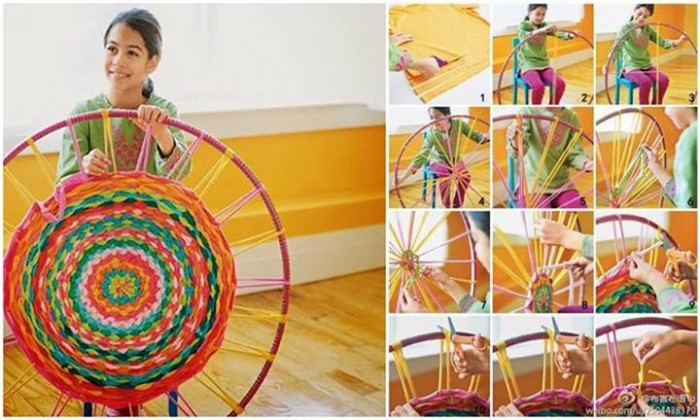 How to Make a T-Shirt Rug Using a Hula Hoop