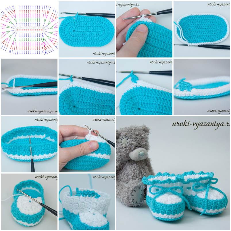 Crochet Pattern For Crocodile Stitch Baby Booties : DIY Crocodile Stitch Baby Booties
