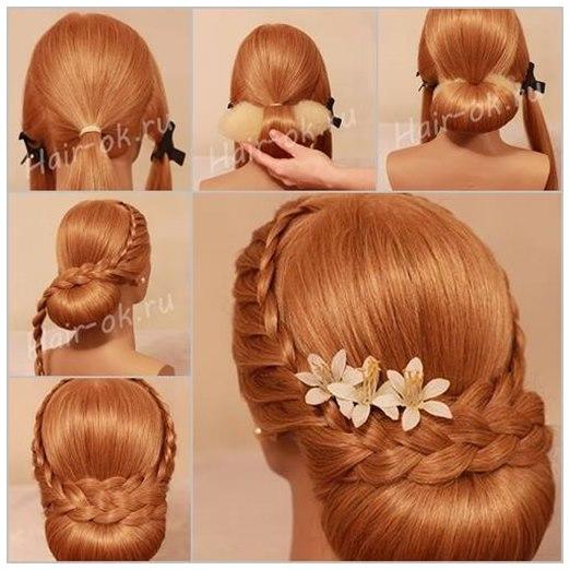 Diy Braided Hairstyles: DIY Elegant Evening Braid Hairstyle