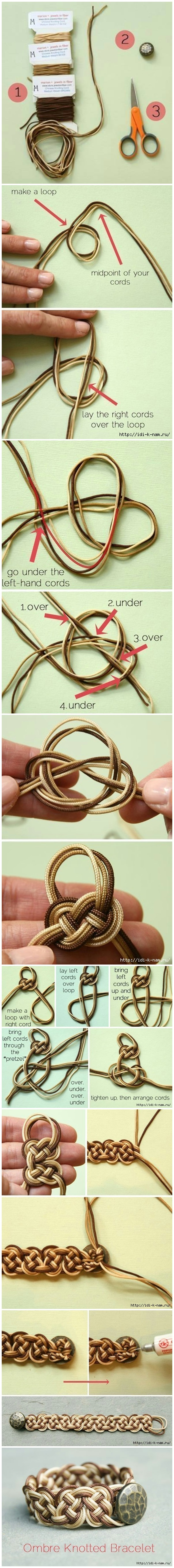 How To Weave Fashion Button Bracelet Step by Step
