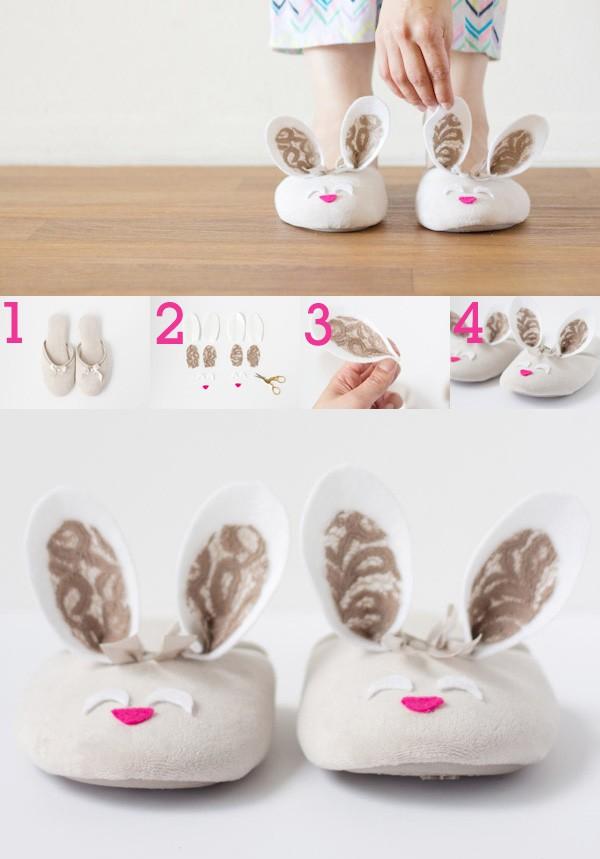 a lovely rabbit slipper