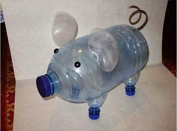 16 идей поделок из пластиковых бутылок для дачи + фото
