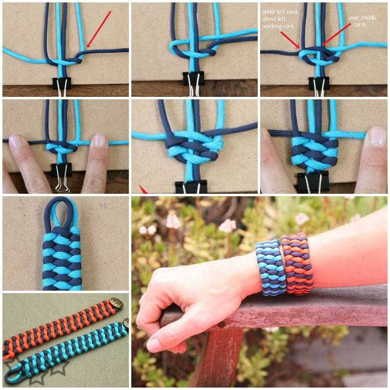 How to weave Two Color Trilobite Bar. The Trilobite Bar is a great way to make a band for a watch, a bracelet etc.