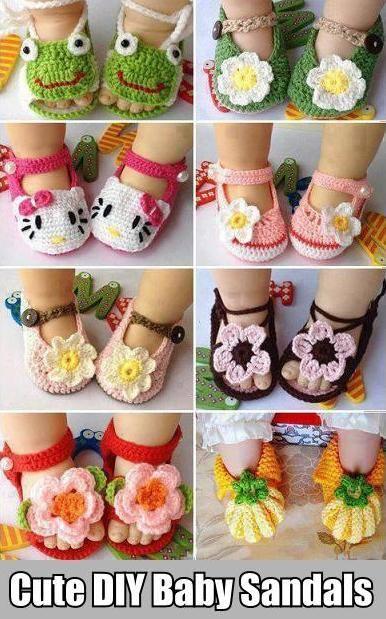 Crochet Baby Sandal Shoes Free Pattern