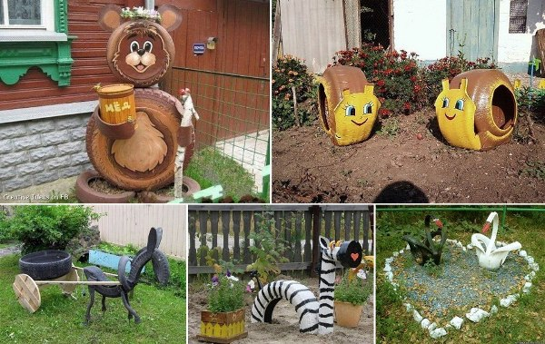 Creative recycling ideas for your garden art craft gift ideas - How To Diy Old Tire Garden Ideas Recycled Backyard