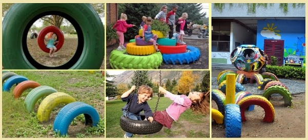 How to diy old tire garden ideas recycled backyard for How to use old tires in a garden