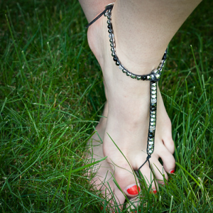 DIY Chan Luu Style Beaded Barefoot Sandals