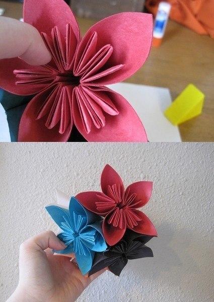 How to fold cute diy kusudama paper craft flower 2 3 4 5 6 7 mightylinksfo Gallery