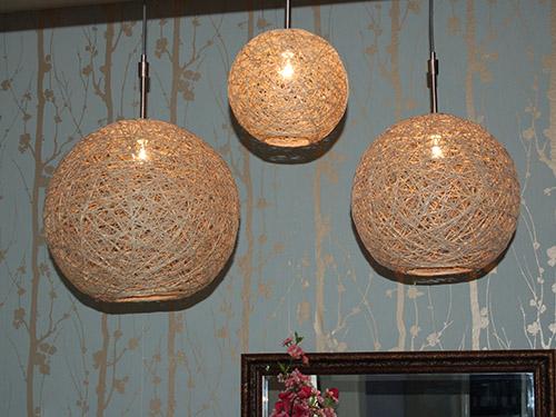 DIY Make Hemp String Pendant Lamps