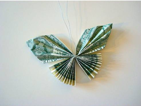 How to make butterflies with money bills - How to earn more money in design home ...