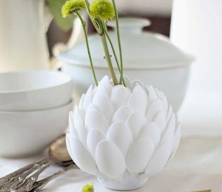 How to DIY Artichoke Spoon Sculpture Vase