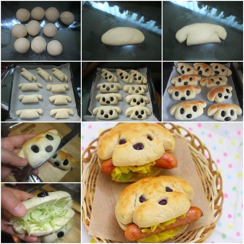 How to Make Dog-Shaped Hot Dog Sandwich