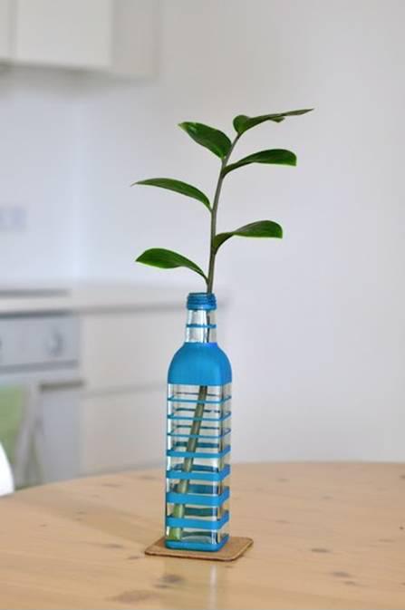 Diy Make Colored Bottle Vase