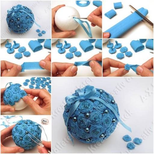 Новогодние игрушки из гофрированной бумаги своими руками фото