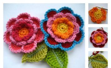 Crochet Triple Layer Flower