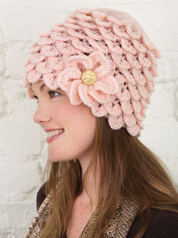 Crocodile Stitch Crochet Hat Pattern
