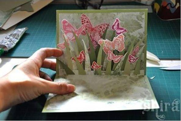 Объемные рисунки в открытках