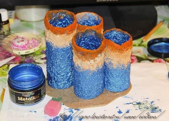 How To Make Colorful Coral Office Organizer