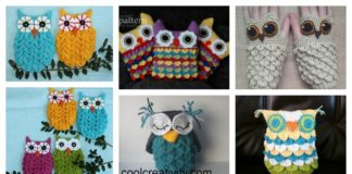 DIY Crochet Owl in Crocodile Stitch with Free Pattern