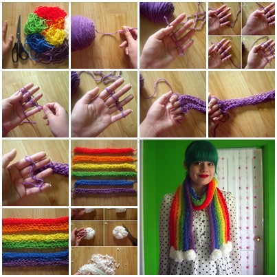 Diy Finger Knitted Scarf I Cool Creativities