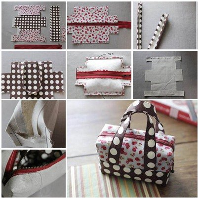 How to DIY Fabric Tote Handbag