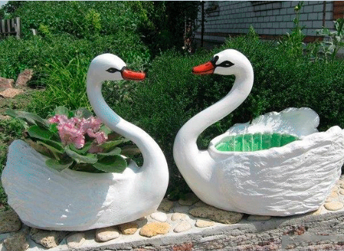 Cool Creativity How To Diy Recycled Plastic Bottle Swan Pot