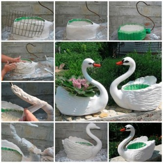 Cool creativities page 101 cool ideas to inspire your daily life - Plastic swan planter ...
