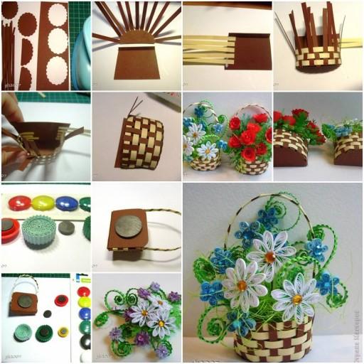 How To Make A Flower Fruit Basket : Diy upcycled plastic fork ribbon fan