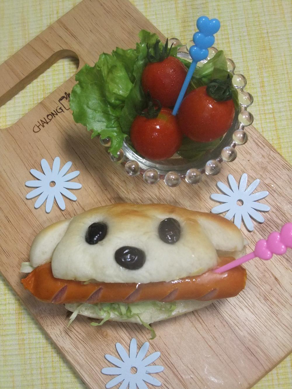 How To Make Dog Shaped Hot Dog Sandwich