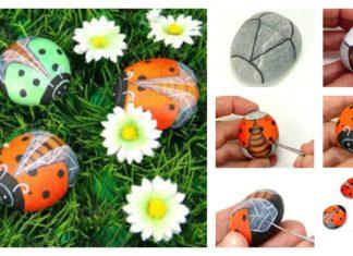 How to DIY Rock Ladybug! Easy & Fun Art!