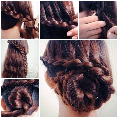 Low Bun Waterfall Braid Hairstyle I Cool Creativities