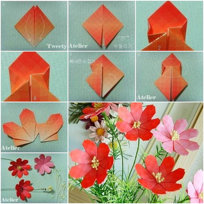 How to make pretty paper craft origami daisy flower mightylinksfo