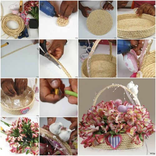 Home Design Gift Ideas: DIY Make A Special Rope Gift Basket