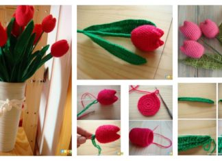 How to Crochet Beautiful Tulip Flower Video Tutorial