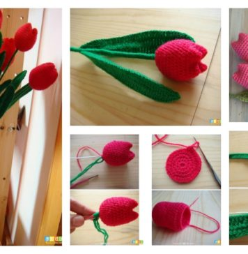 How to Crochet Beautiful Tulip Flower Video Tutorial