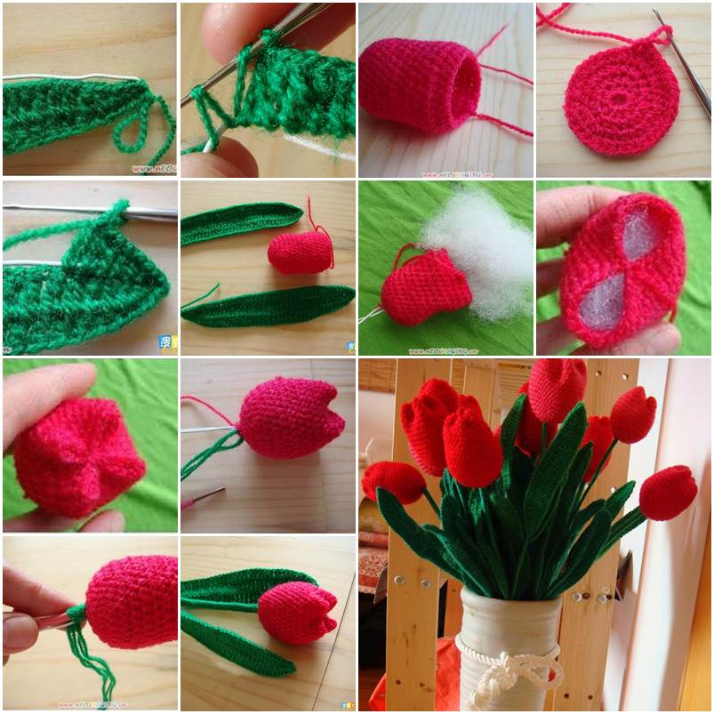 How to Crochet Beautiful Tulip Flower