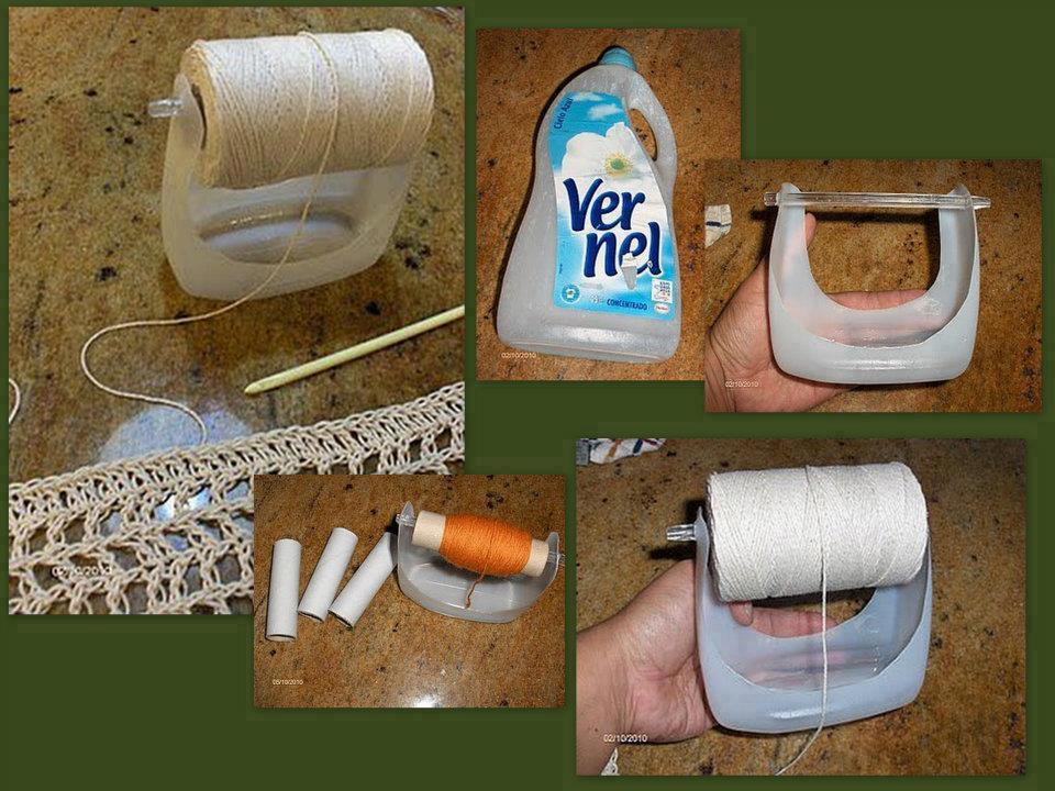 DIY Plastic Bottle Yarn Holder