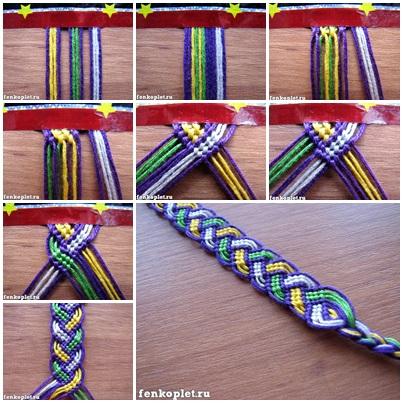 Heart friendship bracelet patterns